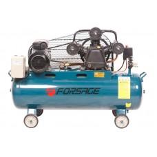 Triple piston belt driven air compressor 100L (3.0kW, receiver 100L, 360 l/m, 380V)