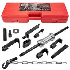 Сar body slide hammer bodywork puller set 9pcs, in a case