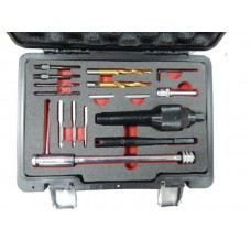 Glow plugs extraction tool kit and thread repair set, in a case ''Pemium''