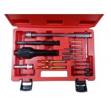 Glow plugs extraction tool kit and thread repair set