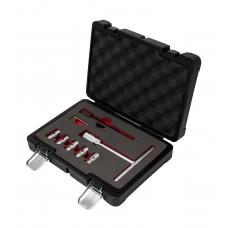 Diesel injector seat cleaning tool kit 8pcs (15х19, 17х17-2pcs, 17х19, 17х21mm), in plastic case
