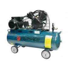 Double piston belt driven air compressor 100 L (2.2kW, receiver 100L, 250 l/m, 220V)
