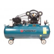Double piston belt driven air compressor 200L (5,5kW, receiver 200L, 600 l/m, 380V)