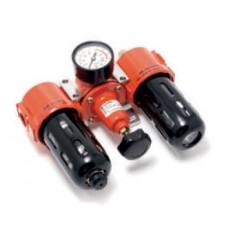 Air preparation unit (filter 5mkm + regulator + oil regulator) 3/8''(0-10bar)