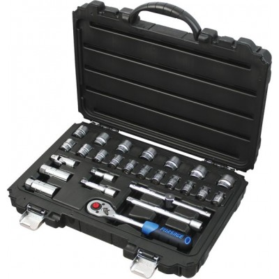 Tool set with socket handle 26pcs 3/8'', 6 point, 6-24mm