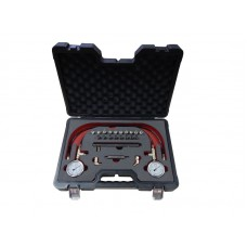 Brake pressure test kit with adapters, in a case ''Pemium''