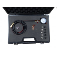 Engine oil pressure tester kit with threaded adapters 12pcs (0-10bar), in a case ''Premium''