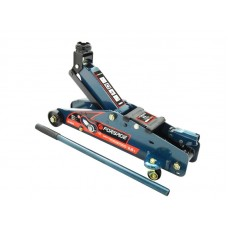 Floor jack 2,5T with fixation (h min 140mm, h max 387mm), in a case