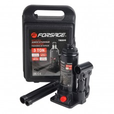 Bottle jack 3T with valve (h min 180mm, h max 350mm,weight 3,8 kg), in a case