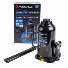 Bottle jack 20T with valve (h min 240mm, h max 450mm,weight 10,5 kg) with repair kit