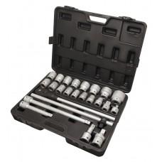 Tool set 24pcs 3/4'', 6 point (17,19,21,22,24,27,30,32,33,34,35,36,38,41,46,50)