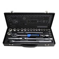 Tool set 24pcs, 1/2'', 6 point, 10-32mm