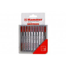 30576 Пилка для лобзика (набор) Hammer Flex 204-905 JG WD-PL-MT set No5 (10pcs) дер.\пл.\мет, 7 видов, 10ш