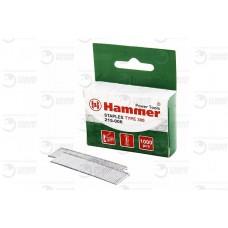 34002 Гвозди для степлера Hammer Flex 215-006 14мм, сечение 1.2мм, T-образные (тип 300), 1000шт.