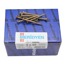 Chipboard screw, yellow galvanized (50шт)