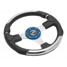 Руль спортивный FL9017 (black/chrome/blue)
