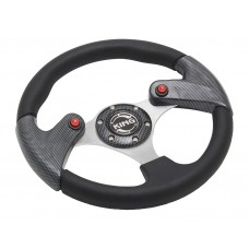 Руль спортивный JY9048K (black/carb/carb)