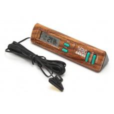 Термометр BT-7 (wood) внутр/наружн+часы (с подсветкой)