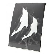 Наклейка 3DS08251 (Дельфины) 16x20cm