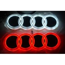 Значок с подсветкой 3D AUDI WHITE