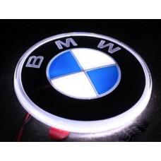 Значок с подсветкой 3D BMW WHITE 8,2см