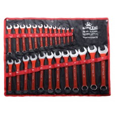 Combination wrench set 26pcs (6-28, 30, 32mm), on holder