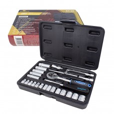 Tool set 26pcs 1/4'', 6 point, 4-14mm