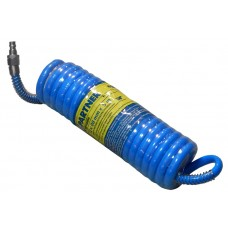 PU recoil hose 8mm х 12mm х 20m with fittings (brass, max pressure - 15bar, working temperature from
