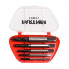 Screw extractor set 5pcs, in a plastic case