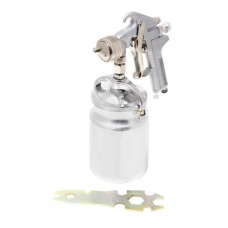 High pressuer spray gun, bottom feed, metal tank (1000ml, 1.8mm, 4.0bar, 85-114 l/min, joining threa