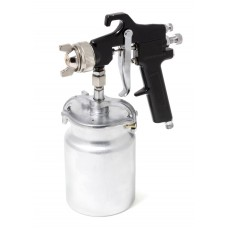 High pressuer spray gun, bottom feed, metal tank (1000ml, 1.8mm, 5 bar, 127-170 l/min, joining threa