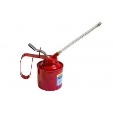 Metal oilcan with flexible and rigid spouts 240ml