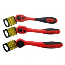 Ratchet with anti-slip rubber handle 1/2'', 72 teeth