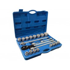 Tool set 21pcs 3/4'', 6 point (17,21-24,26,27,29,30,32,34,36,38,41,46,50mm), in a case
