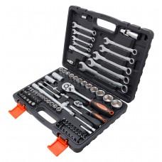 Tool set 82pcs, ''Profi'', 1/4''and 1/2'', 6 point, 4-32mm