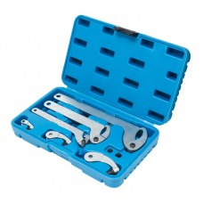 Adjustable hook and pin wrench set 8pcs (35 - 120mm)