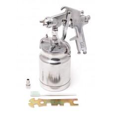 High pressuer spray gun, bottom feed, metal tank (1000ml, 2.5mm, 5 bar, 113-141 l/min, joining threa