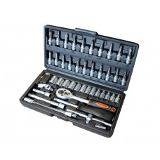 Tool set 47pcs, 1/4'', 6 point, 4-14mm