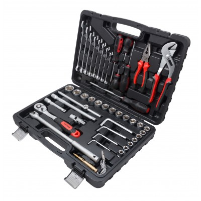 Tool set 45pcs, 1/2'', 6 point, 10-32mm