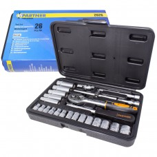 Tool set 26pcs 1/4''(6 point)
