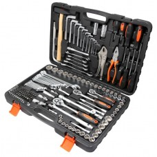 Tool set 142pcs NEW 1/4'', 3/8'', 1/2''(6 point, 4-32mm + ratchet wrenches 8*10,10*11,12*13,17*19)