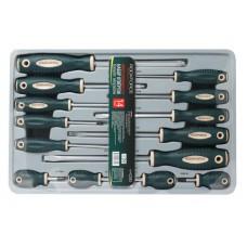 Magnetic screwdrivers set ''Profi''S2 14pcs (PH:0x60, 1x30, 1x80 2x30, 2х100, 3х150mm, SL: 3x75, 3.5x