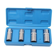 Roller stud extractor set 4pcs (6, 8, 10, 12mm), in a case