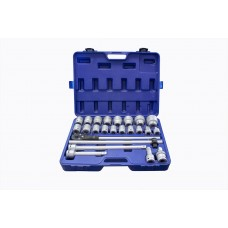 Tool set 24pcs 3/4'', 12 point (17,19,21,22,24,27,30,32,33,34,35,36,36,41,46,50)
