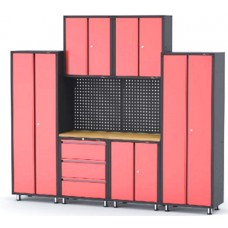 Garage storage cabinet set 9 pcs 460х2180х2670mm (double-wing cabinet, 1 shelf: 300х660х760-2pcs, do