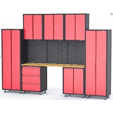 Garage storage cabinet set 11 pcs 460х2180х3330mm (double-wing cabinet, 1 shelf: 300х660х760-3pcs, d