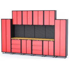 Garage storage cabinet set 16 pcs 460х2180х4000mm (double-wing cabinet, 1 shelf: 300х660х760-4pcs, d