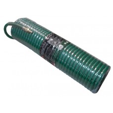 PU recoil hose 12mm х 18mm х 15m with outer threaded tips 1/2''(brass, max pressure - 15bar)