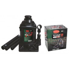 Bottle jack 12T low profile + repair kit (pickup height - 190mm, lifting height - 350mm, rod step -