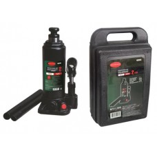 Bottle jack 2T with valve + repair kit (pickup height - 181mm, lifting height - 345mm, rod step - 11